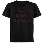 Gaia's Orphans Black T-shirt: In preparation for the release of Gaia's Orphans, I've created an online shop filled with GO merchandise. This is a photo of the black T-shirt. Be sure to check the shop out, and let me know if you have any suggestions or product requests. As the release