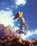 """Mountain Ecstasy by Maxfield Parrish: This is the painting """"Mountain Ecstasy"""" by Maxfield Parrish."""