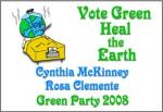 McKinney and Clemente in 2008: This is an image of a yard sign that I found online supporting Cynthia McKinney and Rosa Clemente in their President and Vice President campaign in 2008.