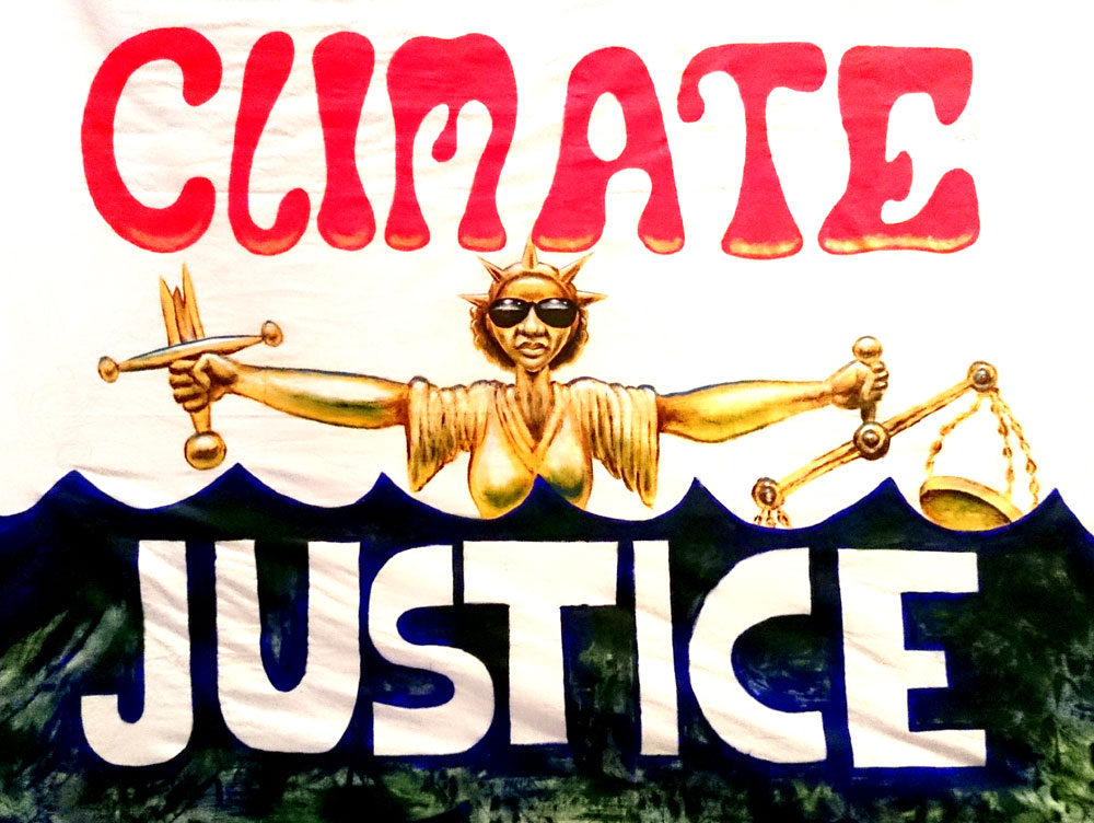 Climate Justice Banner by Stig's Illustration & Design.